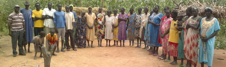 Beneficiaries after a post-harvest grain handling training